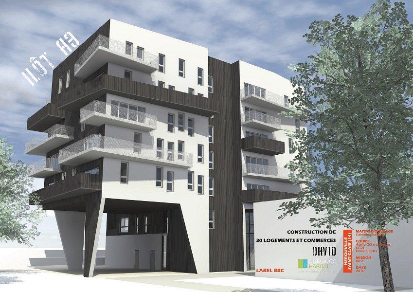 26 logements et commerces à Hérouville fibre optique