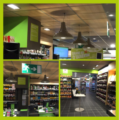 Eclairage, courant fort, courant faible, ventilation et rideau d'air chaud, super marché Caen