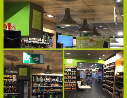 Electricité générale courant fort et courant faible dans un super marché de Caen