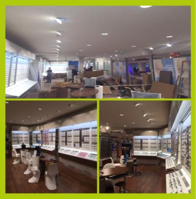 Eclairage intérieur magasin optique Caen