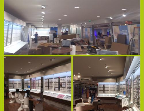 Eclairage intérieur LED magasin optique Caen