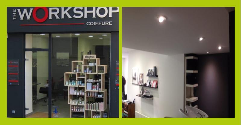 Eclairage intérieur salon de coiffure Caen