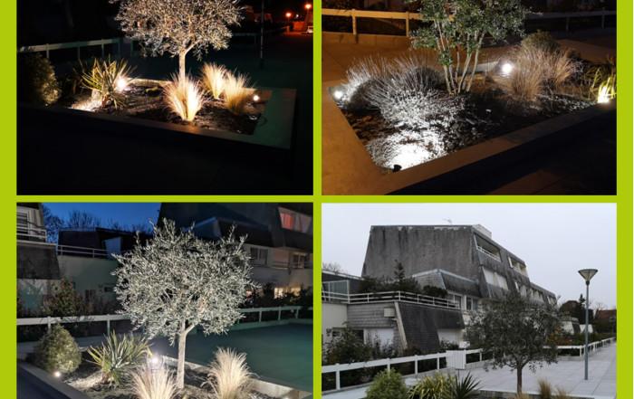 Eclairage des plantations, électricien Caen-Deauville
