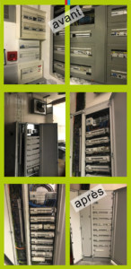 remplacement armoire électrique supermarché caen