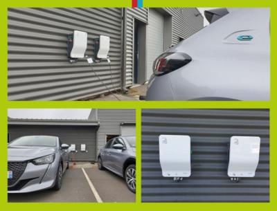 Installation borne de recharge pour véhicule électrique sur Caen