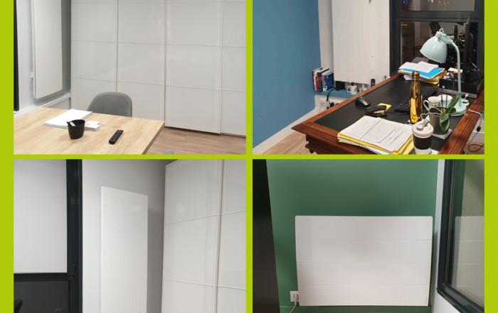 Installation radiateur connecté chaleur douce électricien caen