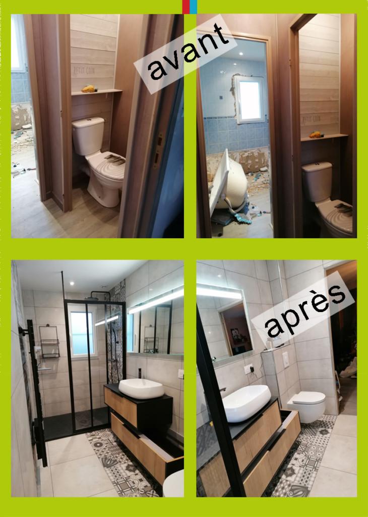Agrandissement salle de bain à Caen